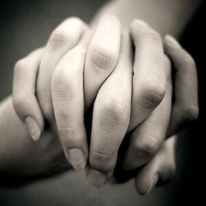 interlocking fingers